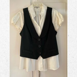 NY Collection Blouse and Vest